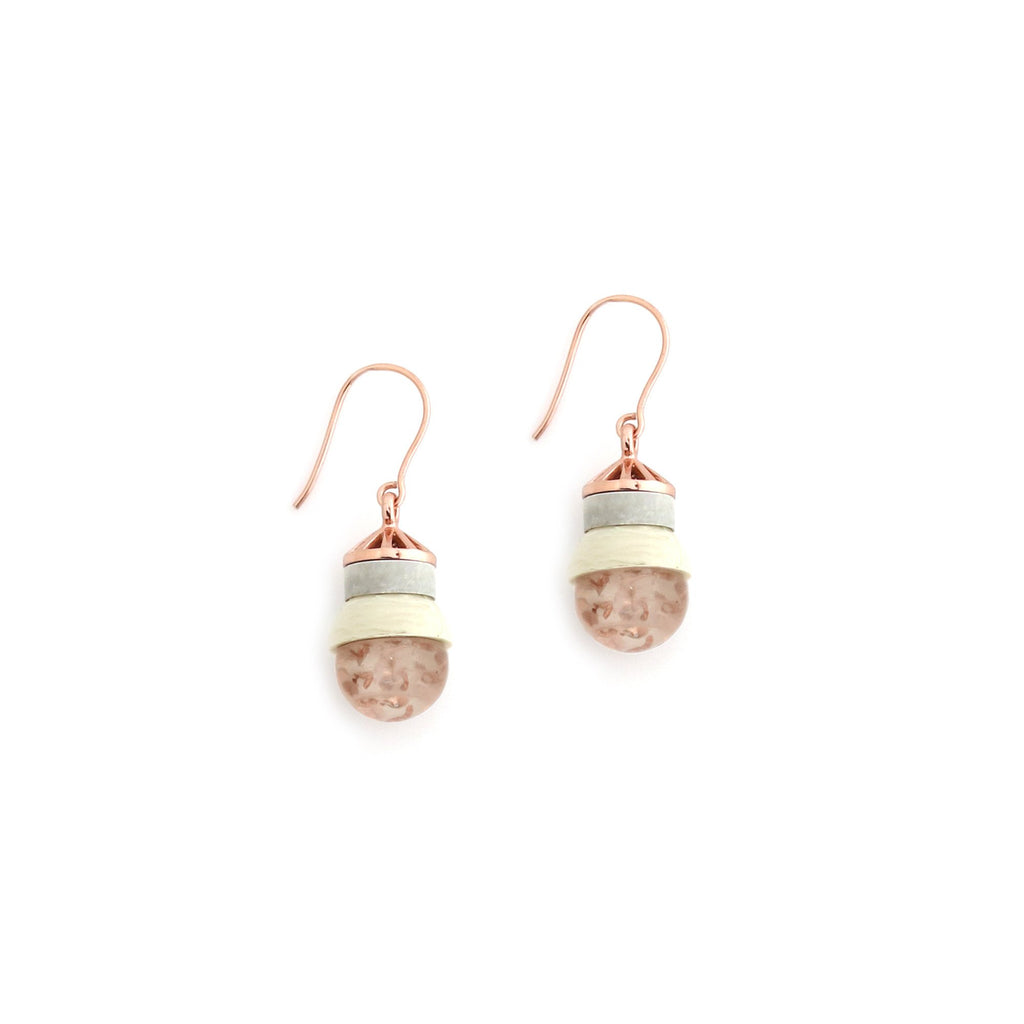 Studio Elke - Accidental Earrings - Rutilated Quartz