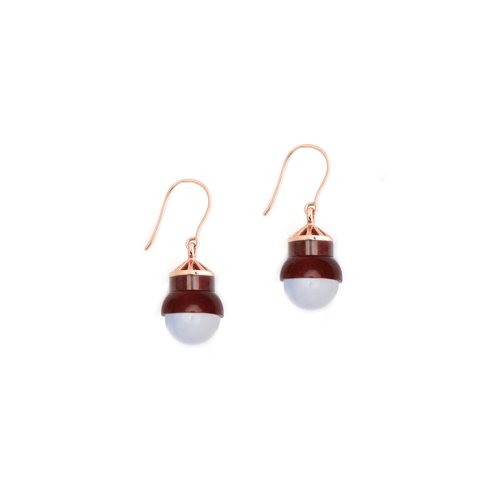 Studio Elke - Accidental Earrings - Blue Laced Agate