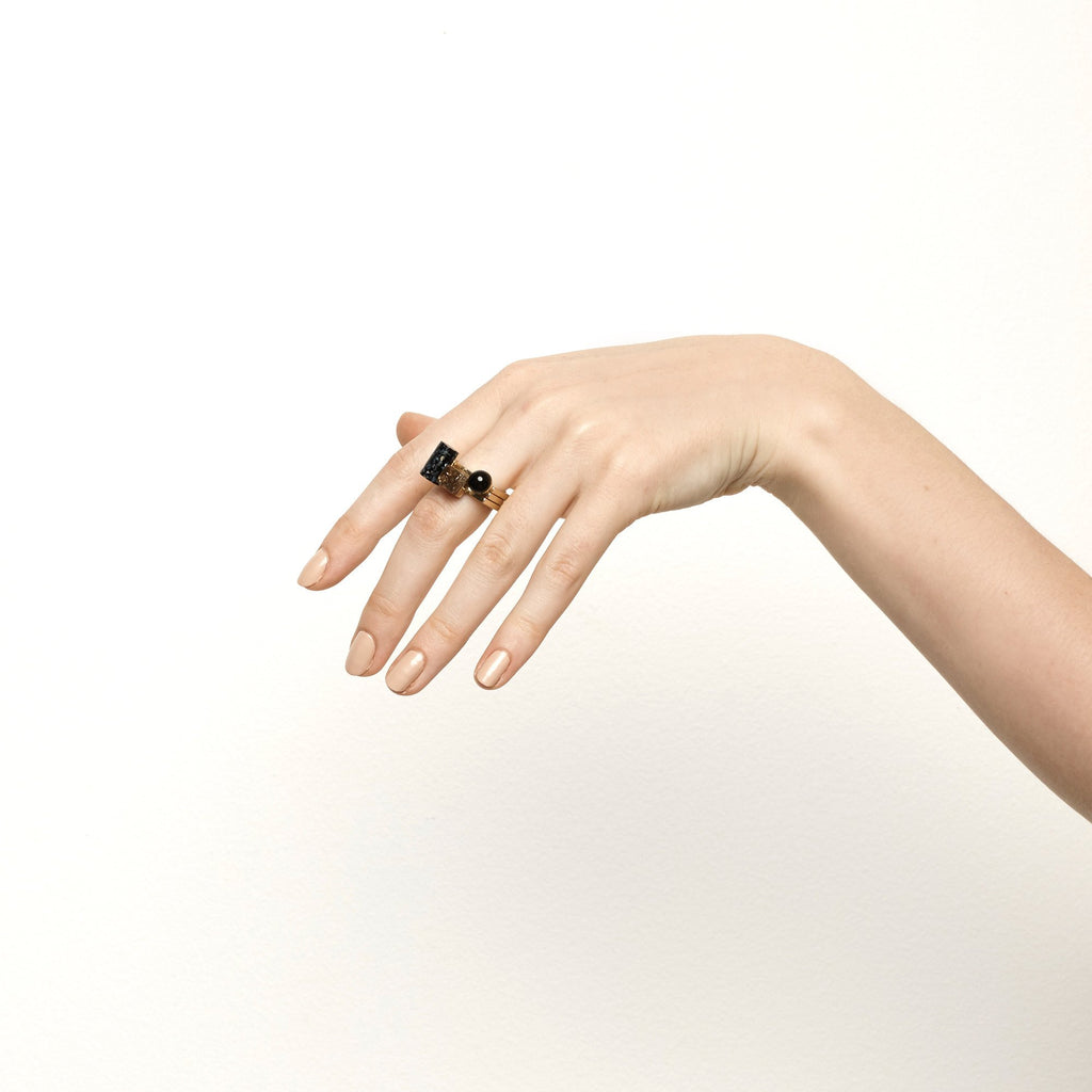 Luxe statement fashion ring jewellery by Studio Elke.