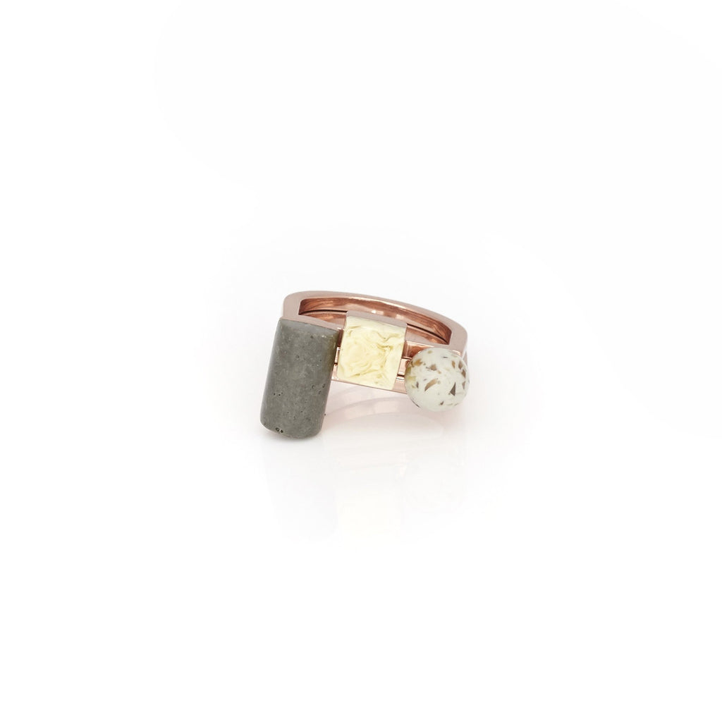 Studio Elke - Meridian Ring Set - Concrete