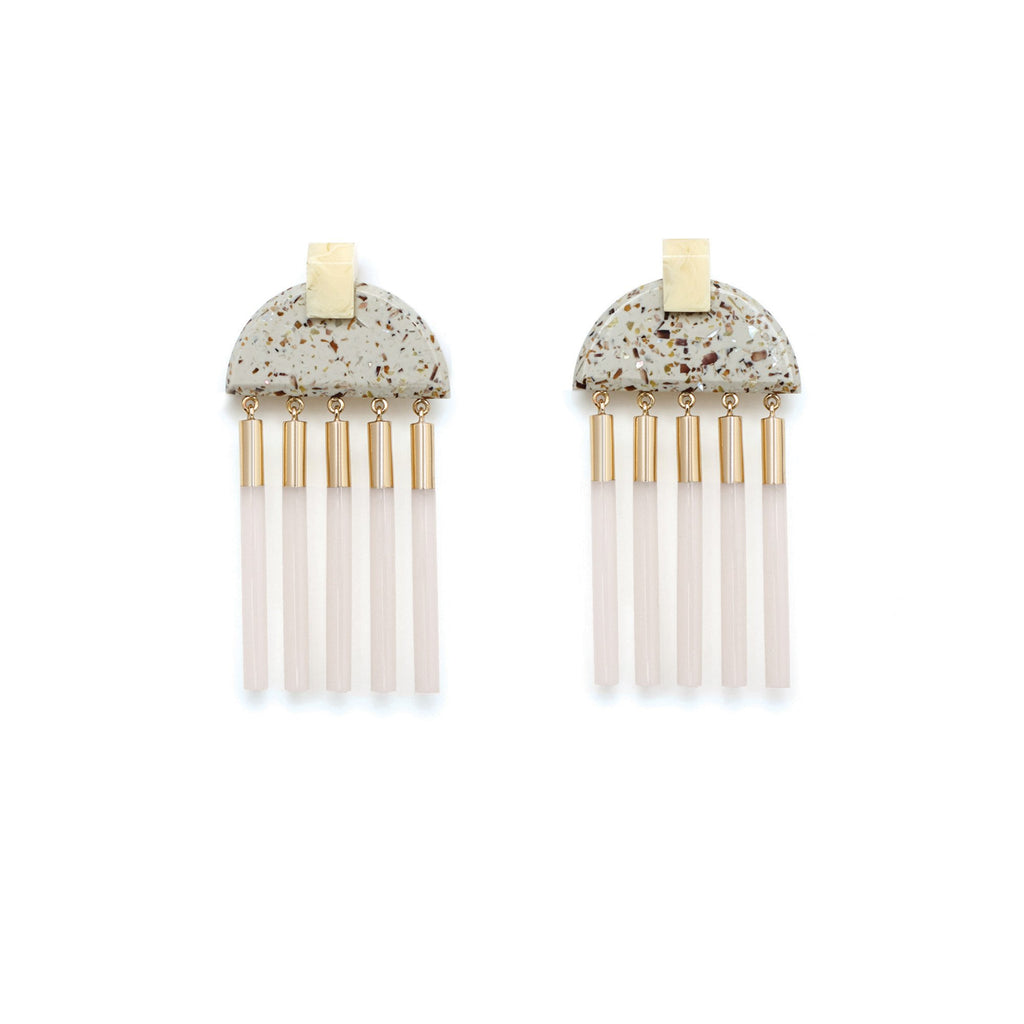 Studio Elke - Meridian Earrings - Light Granite