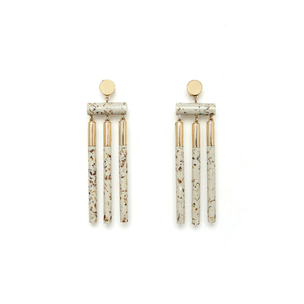 Studio Elke - Isotope Earrings - Light Granite