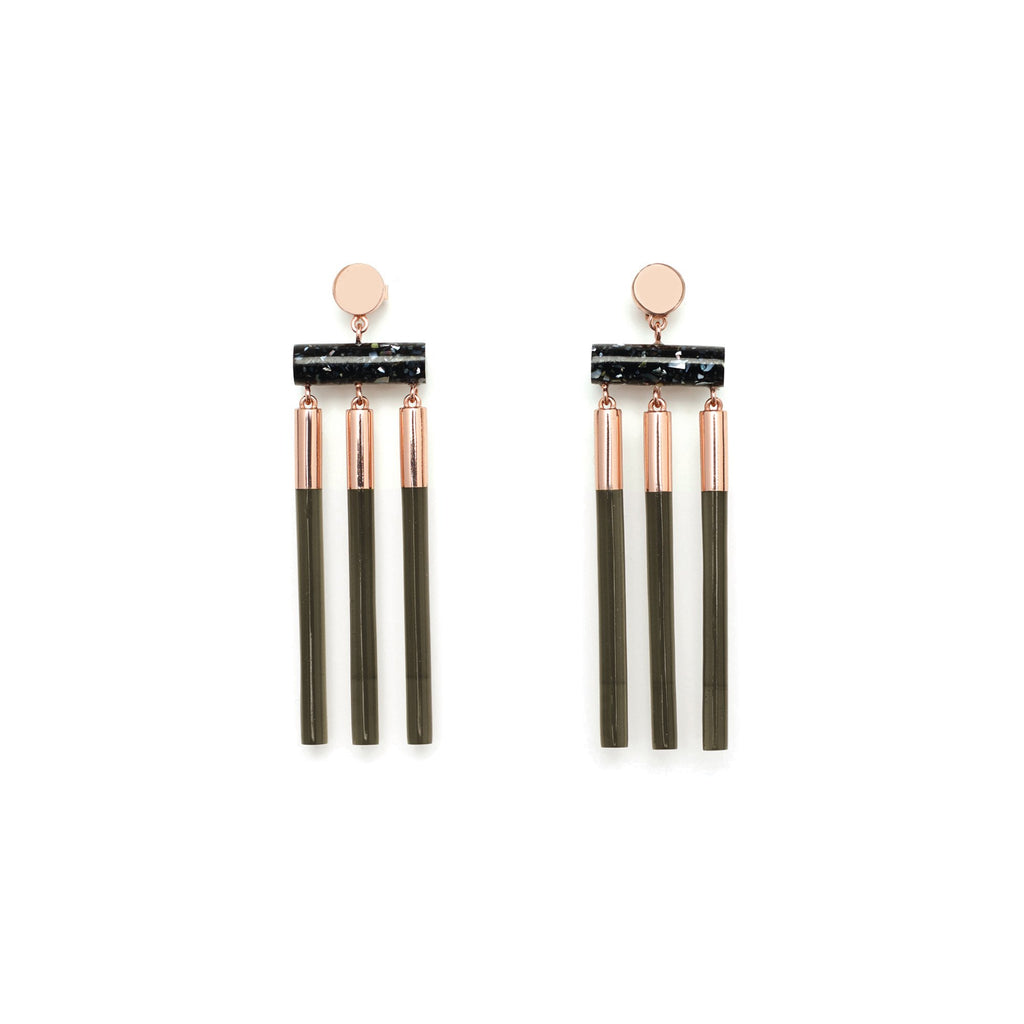 Studio Elke - Isotope Earrings - Olive