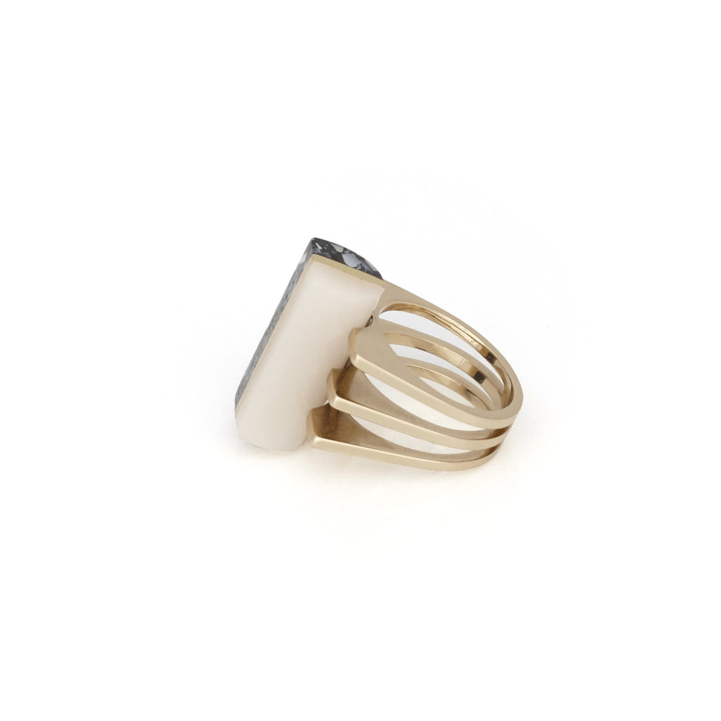 Gold Fashion Statement Ring
