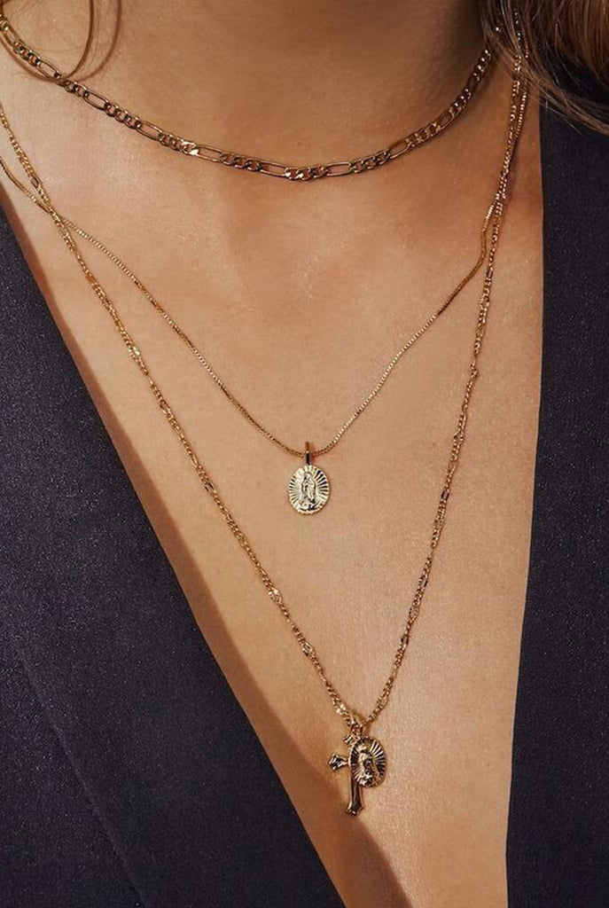 LUV AJ - Isidor Cross Charm Necklace