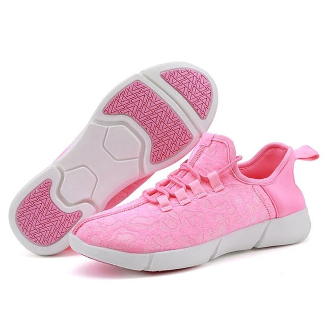 KIDS LUMINOUS FIBER OPTIC SHOES