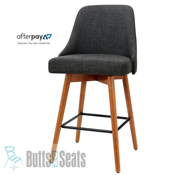 Colby Kitchen Bench Bar Stool Swivel / Timber Dk Grey