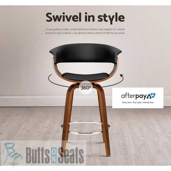 Cassius Swivel Stool with Timber Legs - $169ea