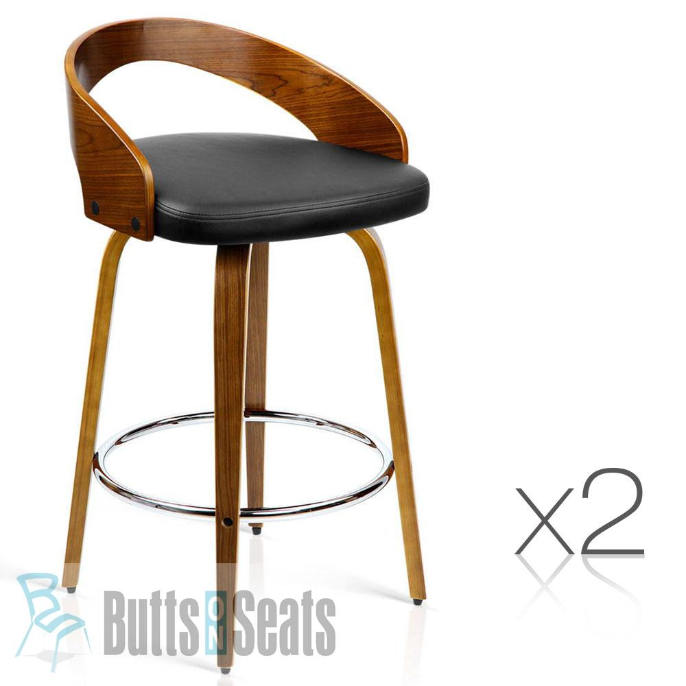Cheeta Budget Kitchen Bench Stool With Black Vinyl Seat x 2 - That's a crazy $149 each