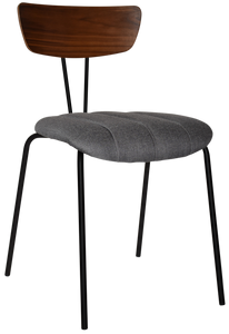 IRUN CHAIR METAL BLACK/WALNUT + GRAVITY SLATE