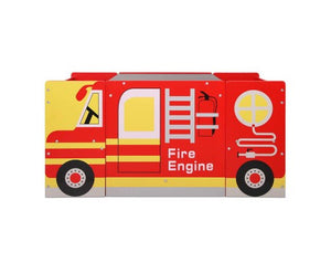 Kid's Wooden Fire Truck Furniture Table & Chair Set