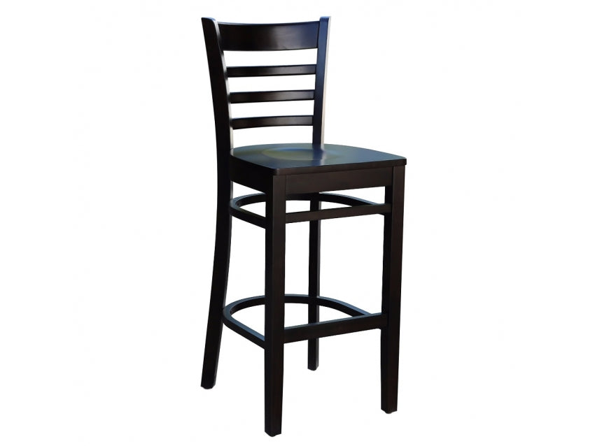 Flo 75cm Bar Stool With Timber Seat