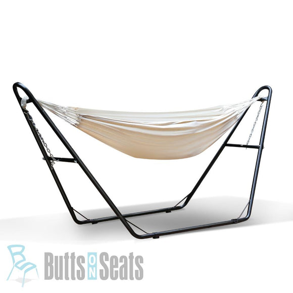 Bravo Hammock Bed with Steel Frame Stand - Cream