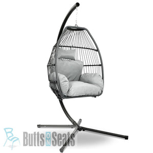 Papa Wicker Hanging Egg Chair with Frame