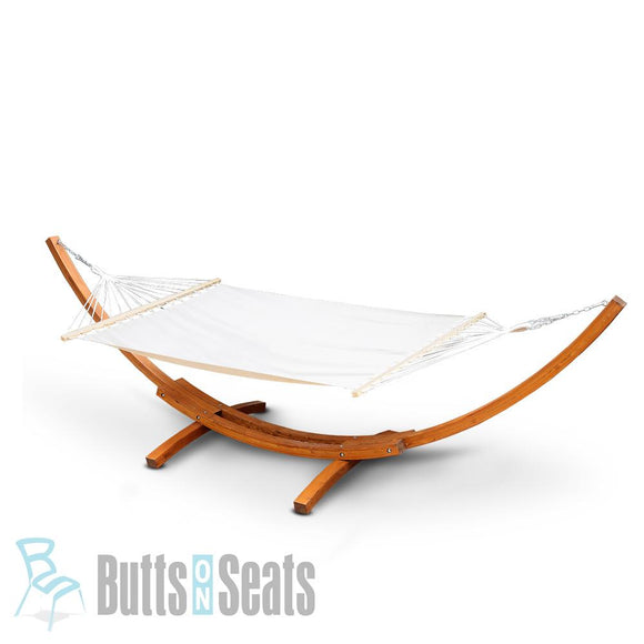 Charlie Double Hammock with Wooden Hammock Stand