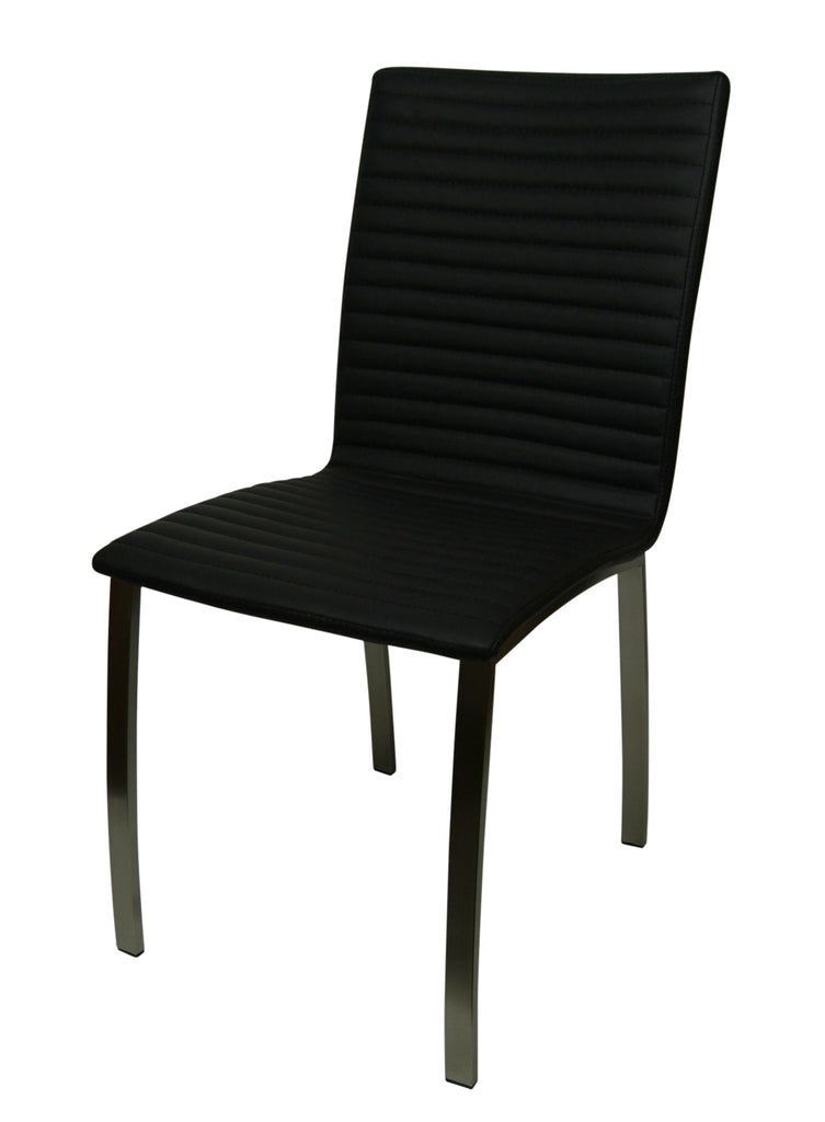Harper Dining Chair With Stainless Steel Base