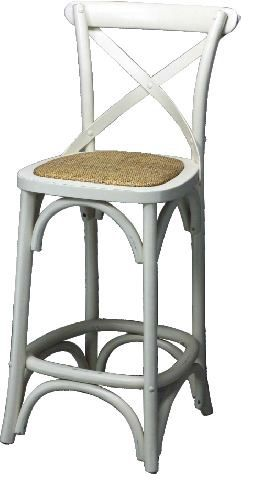 Ista Cross Backed Kitchen Bench Bar Stool