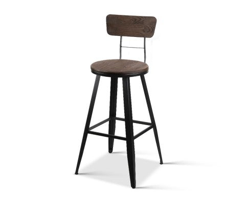 Indi Industrial Kitchen Bench Bar Stool 66cm To The Seat