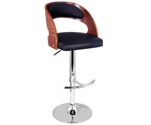 Maria Height Adjustable Stool With Chrome Base