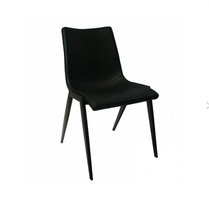 Nadia Dining Chair With Black Powder Coated Legs