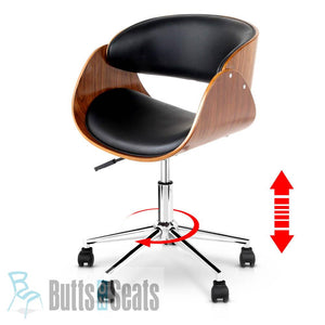 Mario Timber & Vinyl Office Chair