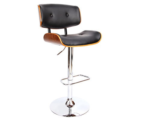 Rey Height Adjustable Stool With Chrome Base
