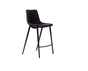Nadia Kitchen Bench Stool With Black Powder Coated Legs