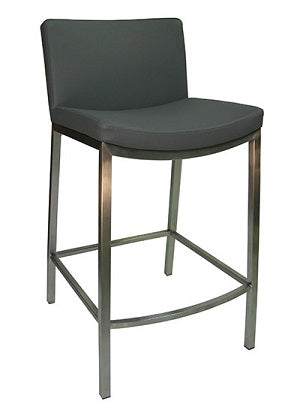 Coco Kitchen Bench Bar Stool Dk Grey / Stainless Steel