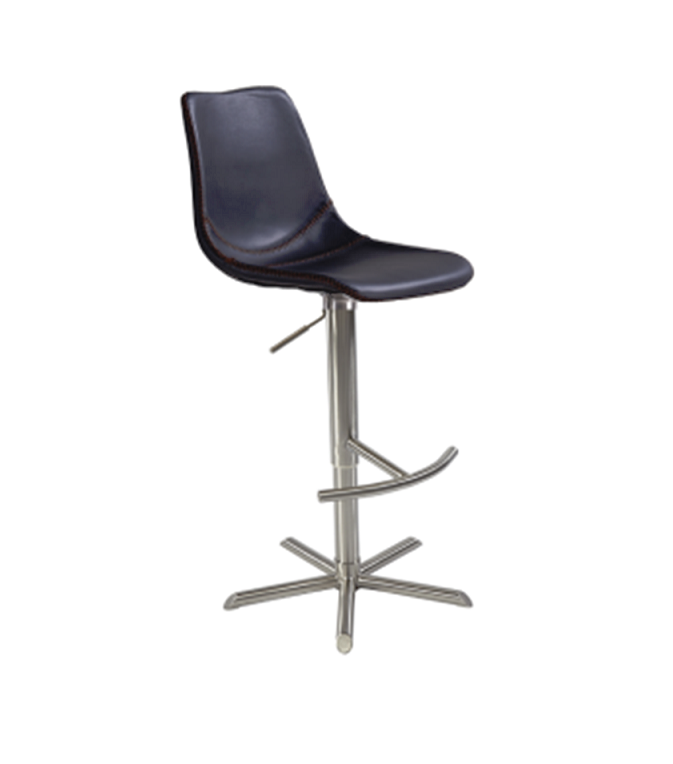Coval Height Adjustable Stool With Stainless Steel Base