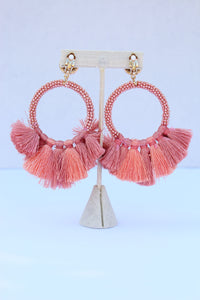 Baru Pink/Coral Earrings