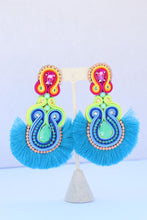 Load image into Gallery viewer, Fiesta Blue Earrings
