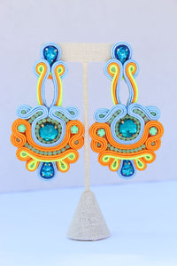 Jacinta Blue Earrings