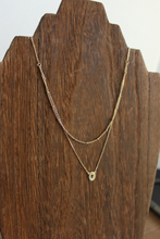 Load image into Gallery viewer, Cross Double Chain Layer Necklace
