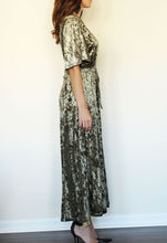 Load image into Gallery viewer, Velvet Wonderland Green Wrap Dress