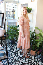 Load image into Gallery viewer, Peachy Keen Dot Wrap Dress