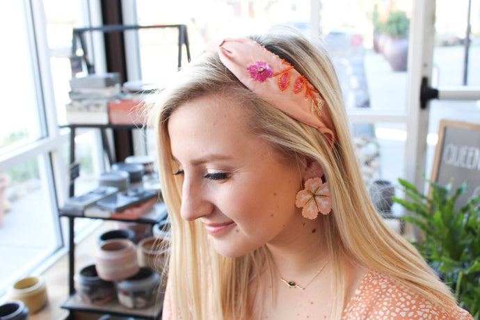 Treasure Jewels Pink Floral Headband