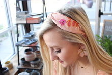 Load image into Gallery viewer, Treasure Jewels Pink Floral Headband
