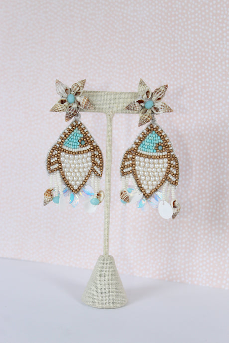 Treasure Jewels Fish Earrings