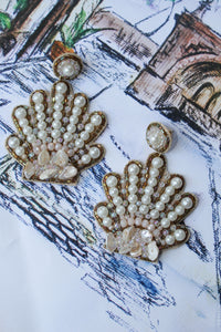 Treasure Jewel Seashell Earrings