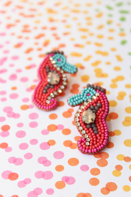 Treasure Jewel Seahorse Earrings