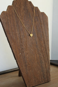 Love You Gold Heart Necklace