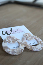 Load image into Gallery viewer, Pink Terrazzo Acrylic Earrings