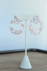 Pink Terrazzo Acrylic Earrings