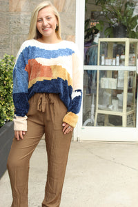 Mix It Up Color Block Sweater