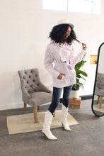 Load image into Gallery viewer, Jenny Oversized Lavender Denim Jacket