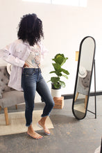 Load image into Gallery viewer, Tatter Bottom High-Rise Skinny Jeans