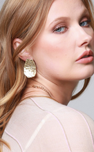 Load image into Gallery viewer, Golden Hammered Stud Earrings