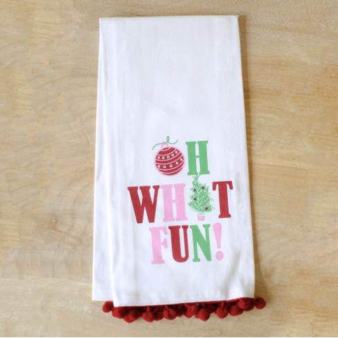 Oh What Fun Tea Towel
