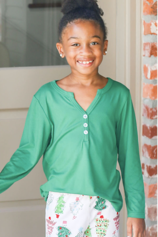 Youth Henley Pajama Shirt