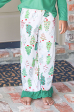 Load image into Gallery viewer, Youth Treeful Ruffle Pajama Pants